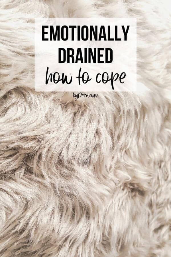 emotionally drained how to cope