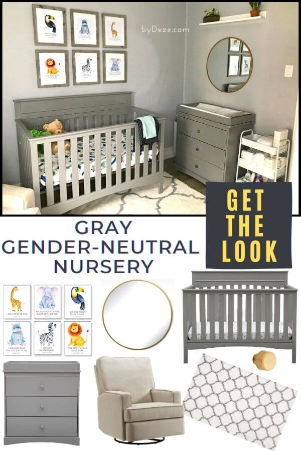 GRAY GENDER NEUTRAL NURSERY DECOR