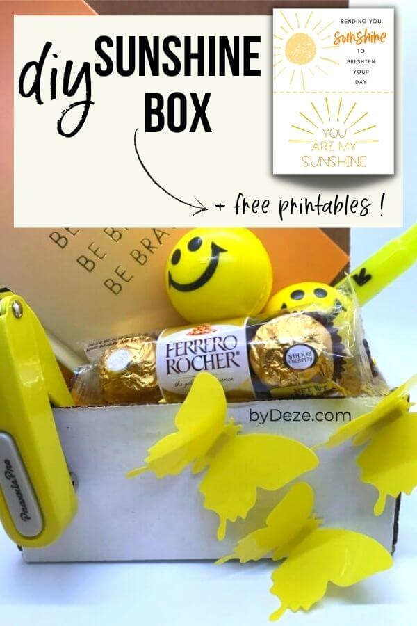 doy sunshine box with free printables