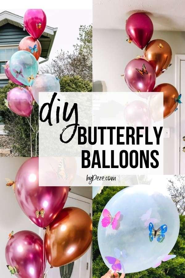 DIY BUTTERFLY BALLOONS PIN