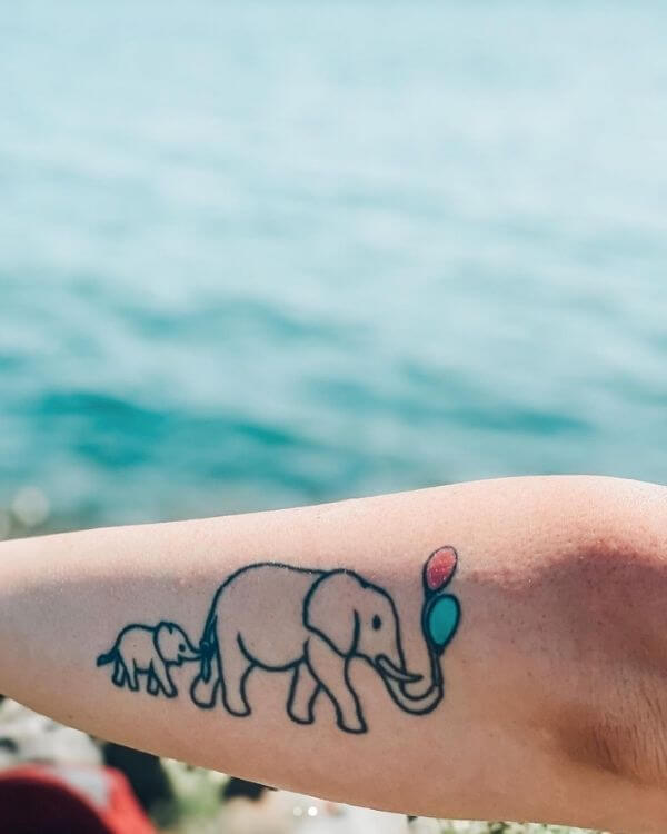 Elephant Miscarriage Tattoo