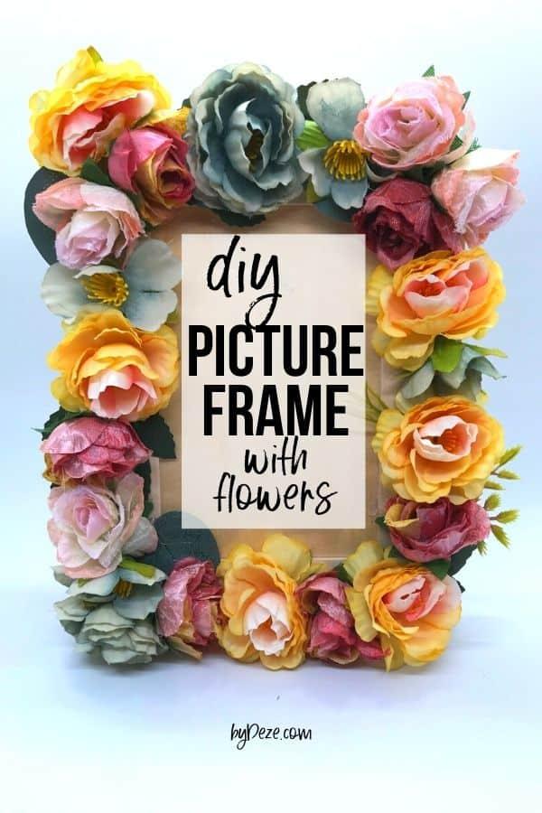 diy flower picture frame