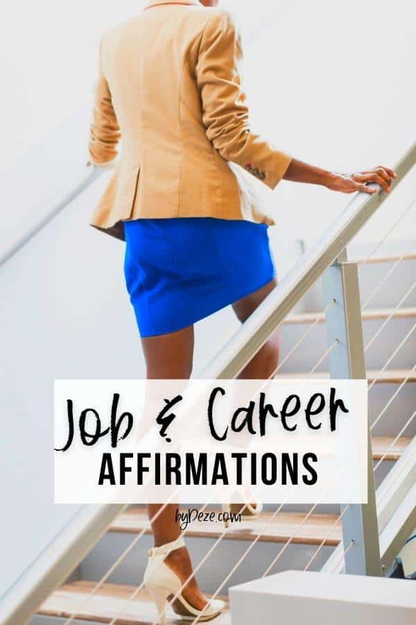 career woman going to interview - job affirmations