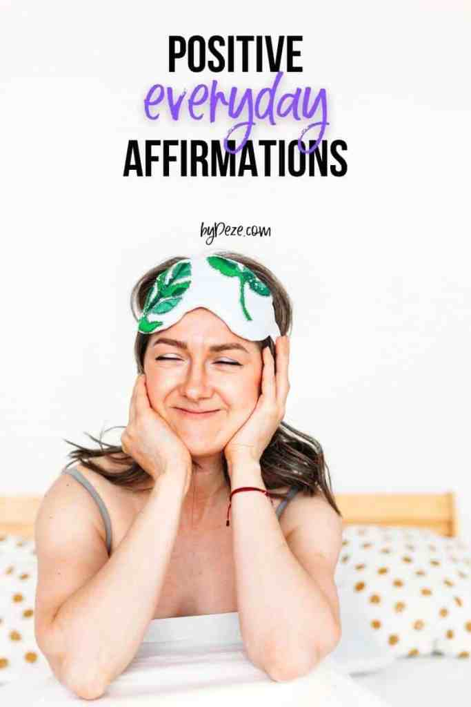 positive affirmations to say everyday - girl waking up in the morning