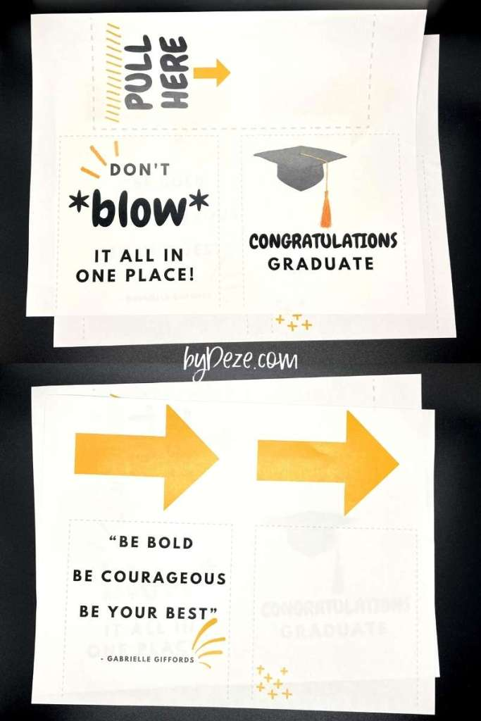 money tissue box printables for graduations