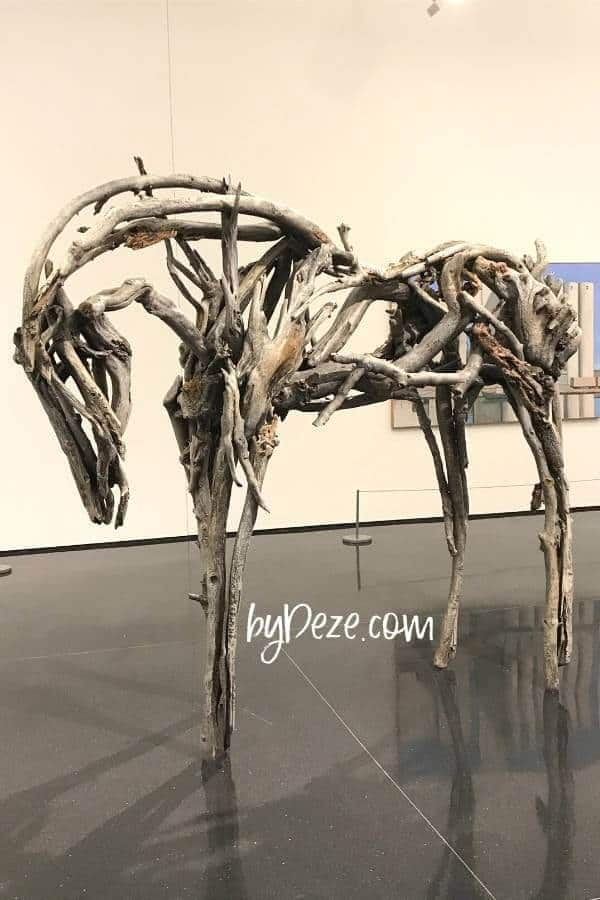 sculptural horse exhibit at the figge museum in downtown davenport