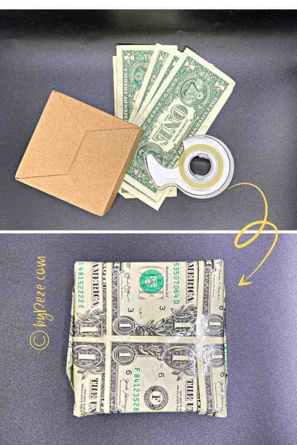 dollar bills to real money gift wrapping paper