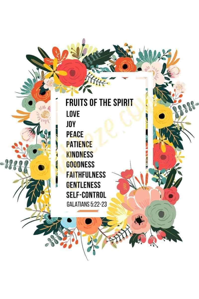 floral bible verse printable art - galatians 5