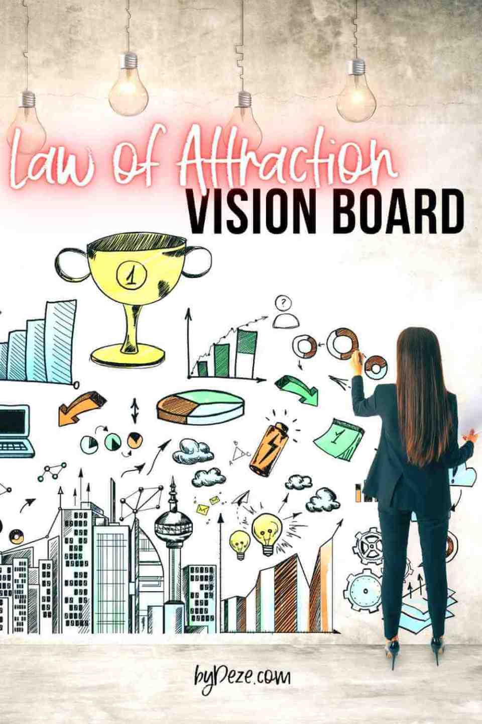 a law of attraction vision board