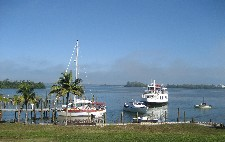 View from patio on harbor of CabbageKey