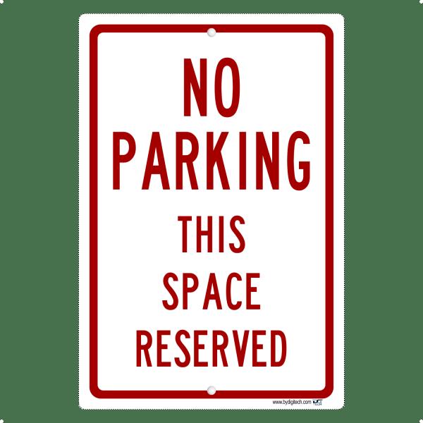 No Parking Private Drive - aluminum sign