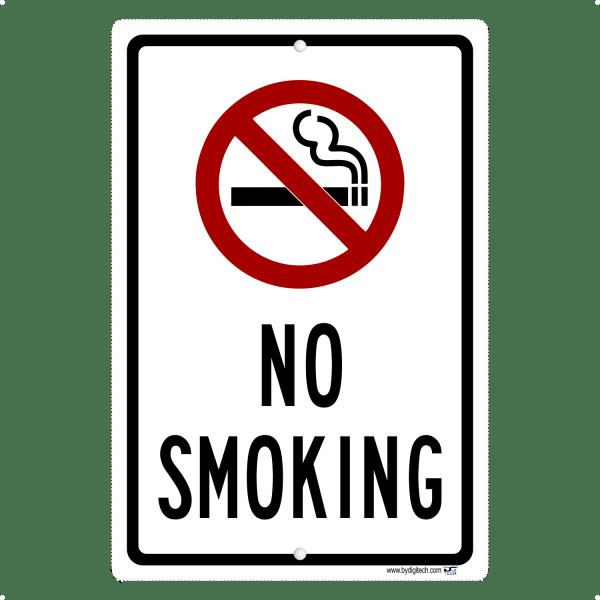 No Smoking - aluminum sign
