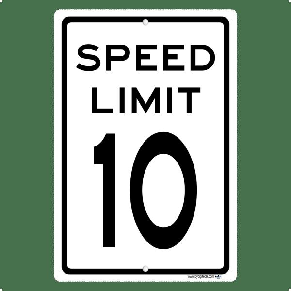 Speed Limit 10 MPH - aluminum sign