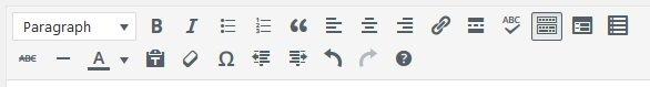 TinyMCE editor | Remove TinyMCE buttons