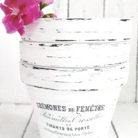DIY French Made pots with waterslide decals