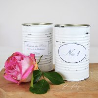 DIY Shabby French recycled tin cans