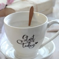 {Another} DIY 5 Minute Decal Transfer on a Coffee Cup + free printable