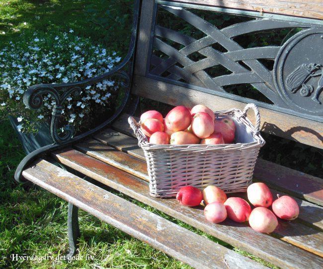 Pynt med epler og spre litt glede