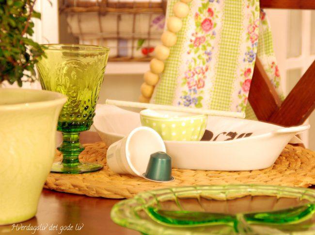 Grønt på bordet