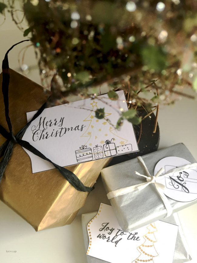 Vinterstemning og julegavelapper
