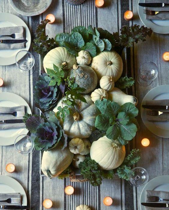 Høst – pynt bordet med gresskar