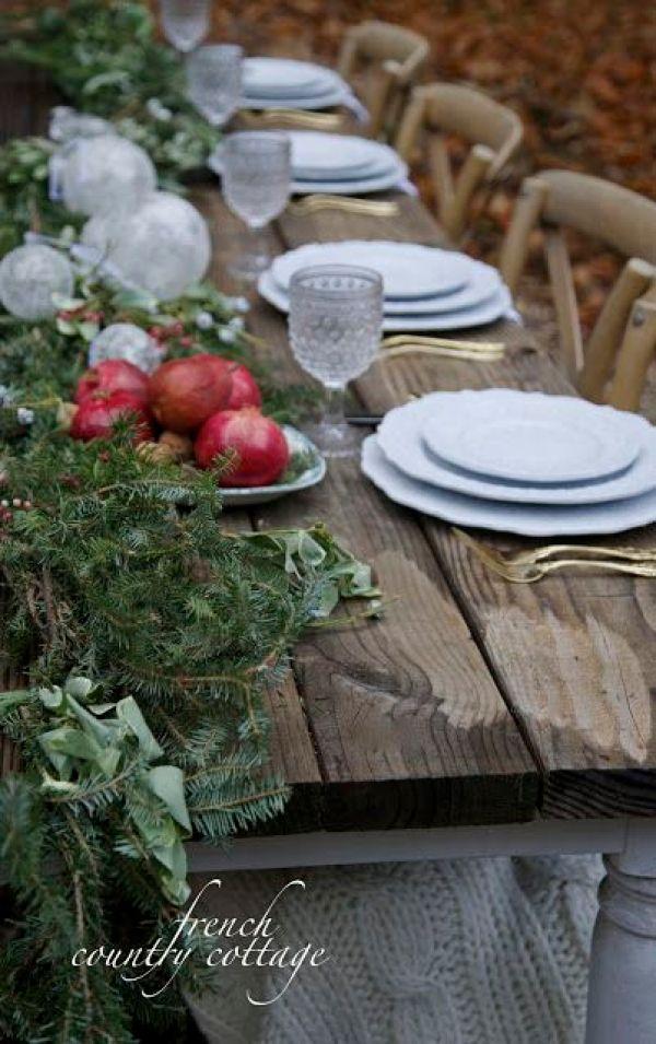 Julepyntet bord