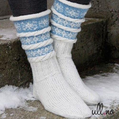 Snøfnugg - sokkestrikk til kalde dager