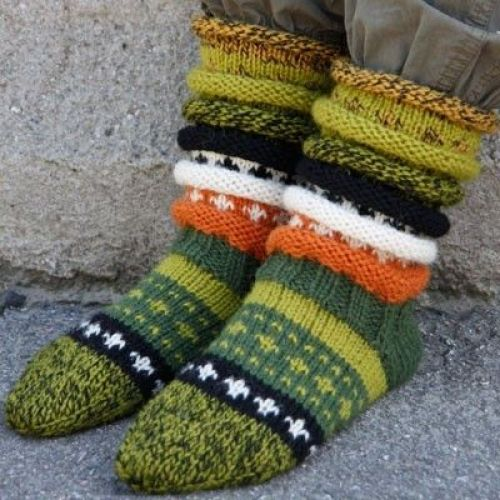 Skogsokken- sokkestrikk til kalde dager