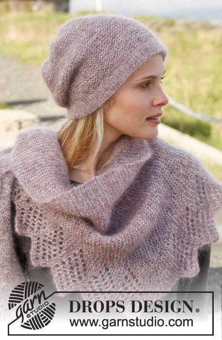 Strikk et sjal i tynn ull