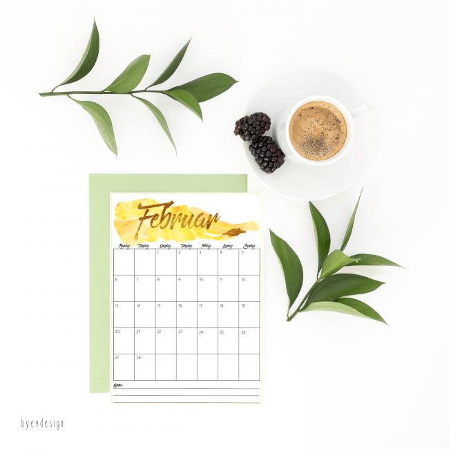 Print ut gratis kalender - februar 2017