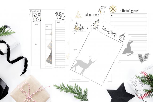 Print ut det du trenger til juleforberedelsene