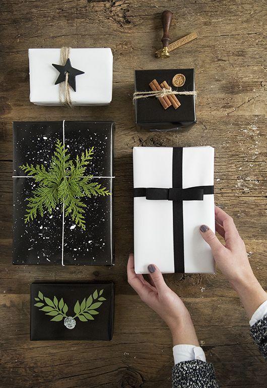Vakker innpakking av julegaver