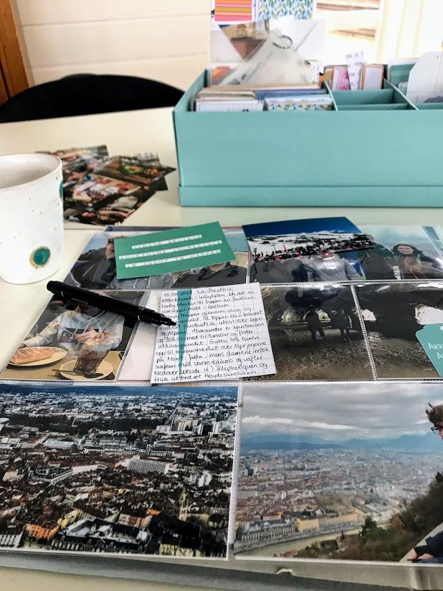 Turen opp til Bastillen i Grenoble, ble en flott opplevelse - Project Life® - Pocketscrapping