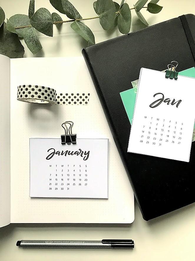 Kalender 2019 for Project Life og planleggere