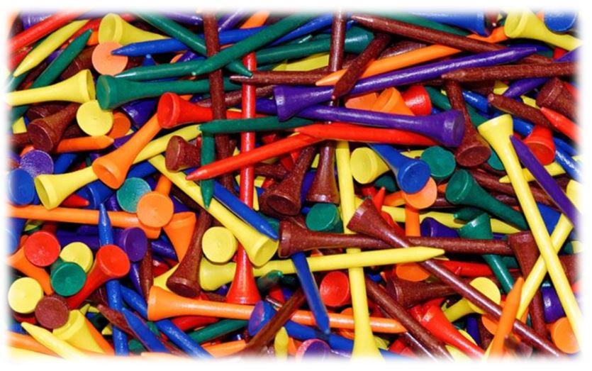 Plastic or Wood Golf Tees