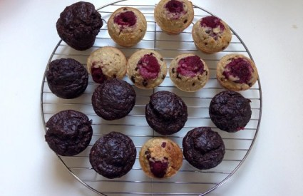 Healthy Raspberry Muffin