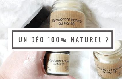 Un déodorant naturel et 100% efficace ?