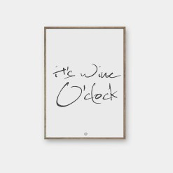wine o'clock plakat