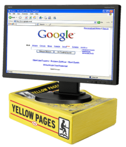 Google Search on Yellow Pages