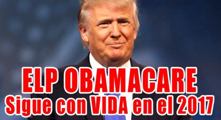 El Paso Obamacare sigue con Vida para el 2017