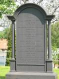 Von Mentzers gravvård från 1860 på Bredaryds kyrkogård är med sina tre meter i höjd länets största gjutjärnsvård.