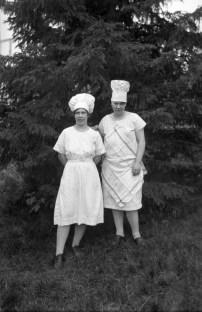 Serveringspersonal på Alphyddan, ca 1930.