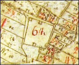Kyrkogården på karta från 1731, upprättad av P. Duker.