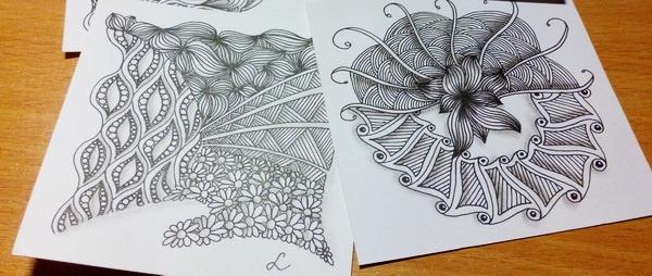 zentangle как рисовать зентангл