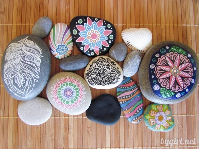 Разрисовываем камни: инструменты для рисования на камнях