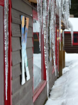 The building has terrible heat insulation, but it made for some epic icicles!