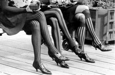 Patterned 1920s stockings