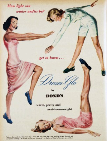 Light-weight undergarments for women who were now actively working to support the war effort.
