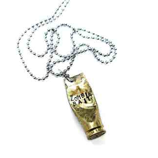 Zombie Bait Bullet Shell Necklace