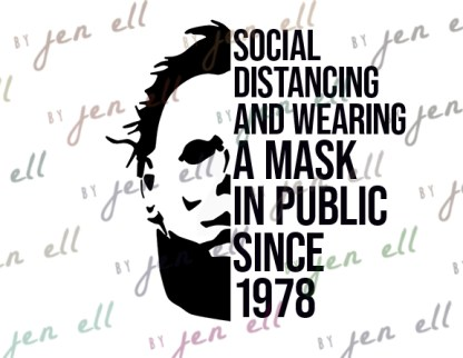 Social Distancing Since 1978 SVG